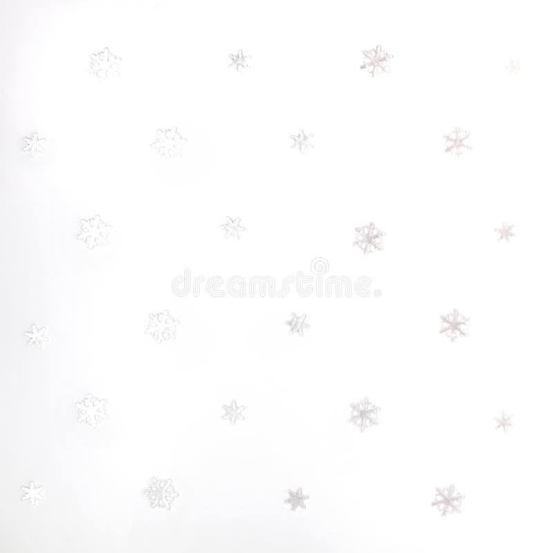Weihnachten oder Winterzusammensetzung Muster gemacht von den weißen Schneeflocken auf weißem Hintergrund Weihnachten, Winter, Ko lizenzfreie stockbilder