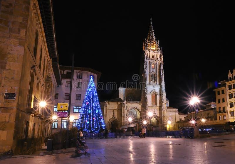 Weihnachten in Oviedo, Asturias. lizenzfreies stockfoto