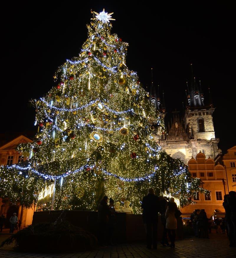 Weihnachten in Prag lizenzfreies stockfoto