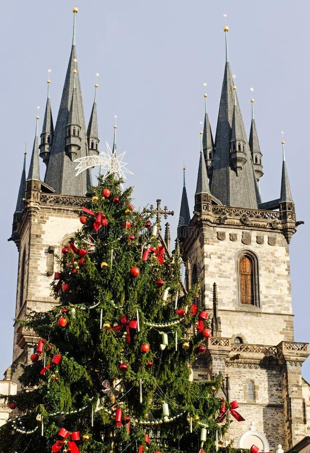 Weihnachten in Prag lizenzfreie stockfotografie