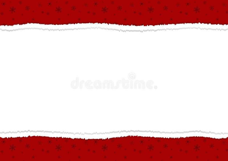 Weihnachten redete festliches heftiges Papier mit weißem Hintergrund in an lizenzfreie abbildung