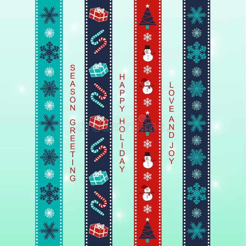 Weihnachten ribbon2 lizenzfreie abbildung