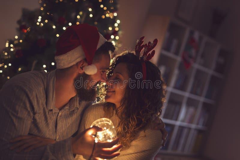 Weihnachten Romance lizenzfreies stockbild