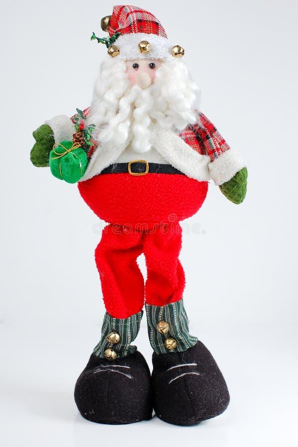 Weihnachten Sankt auf weißem Hintergrund lizenzfreie stockfotos