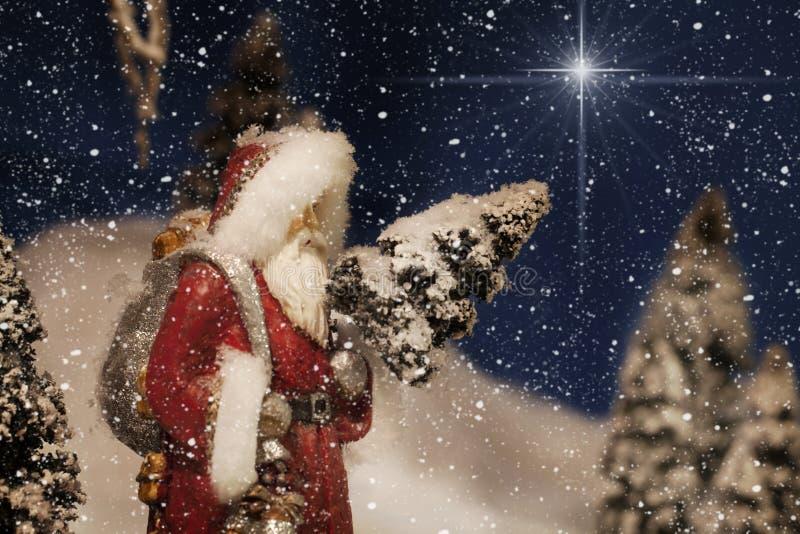 Weihnachten Santa Claus Star lizenzfreie stockfotografie
