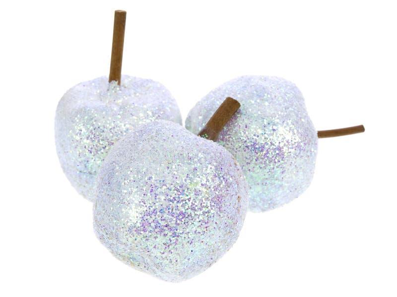 Weihnachten shinny Äpfel stockfotos