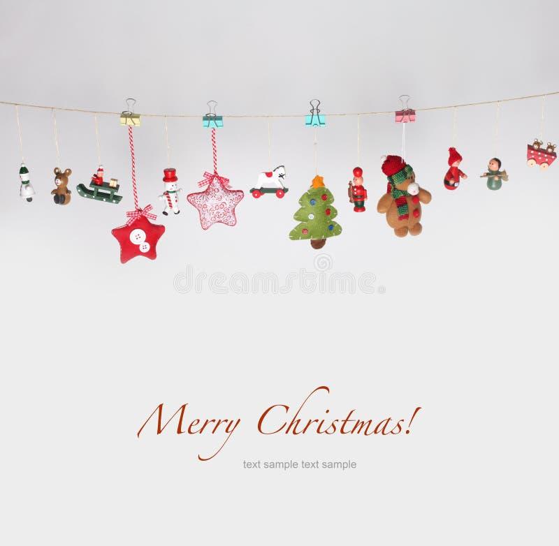 Weihnachten spielt Girlandehintergrund lizenzfreie stockfotografie