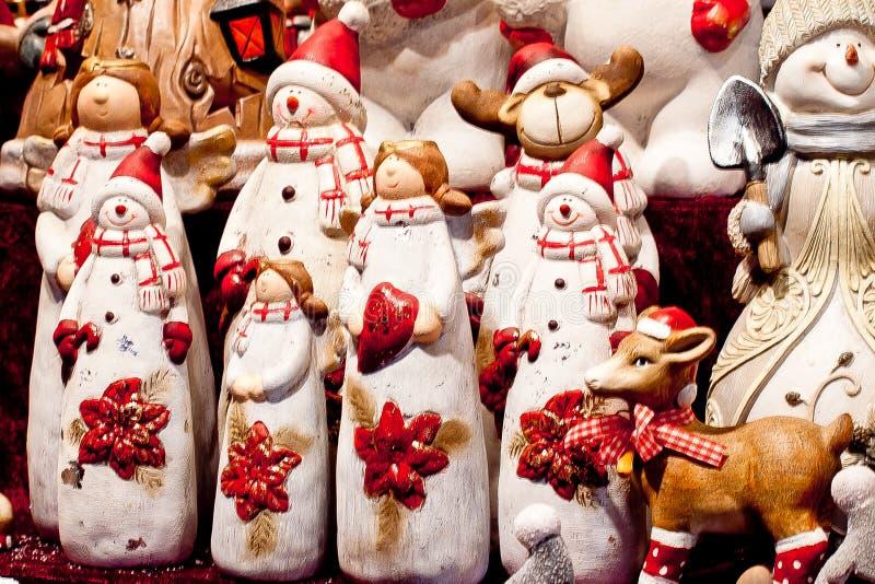 Weihnachten spielt, Sankt, Ren, Schneemann 1 stockfoto