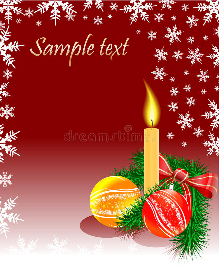 Weihnachten sprudelt Kerze und Baum lizenzfreie abbildung