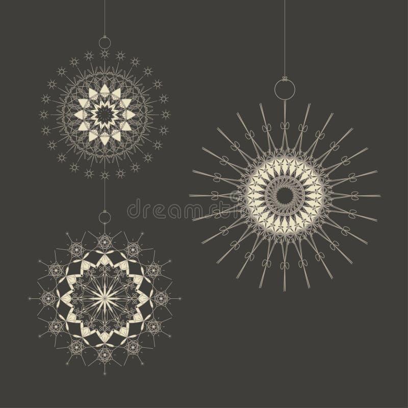 Weihnachten stars Fertigkeit vektor abbildung