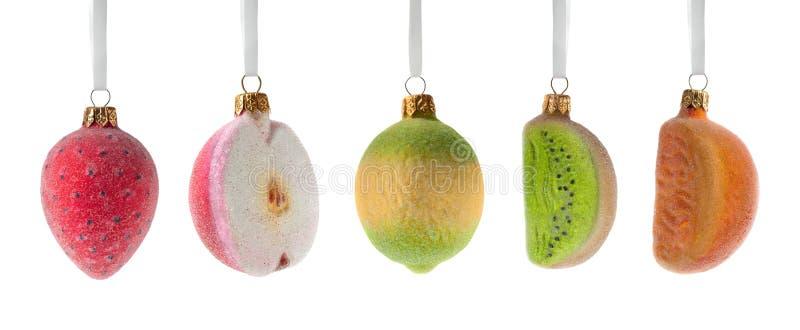 Weihnachten trägt Dekoration Früchte lizenzfreie stockfotos