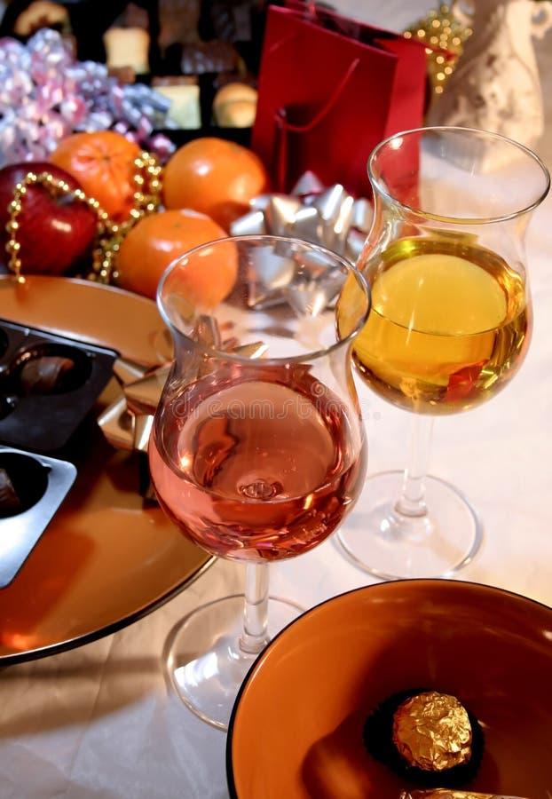 Weihnachten und Abendessen des neuen Jahres lizenzfreies stockbild