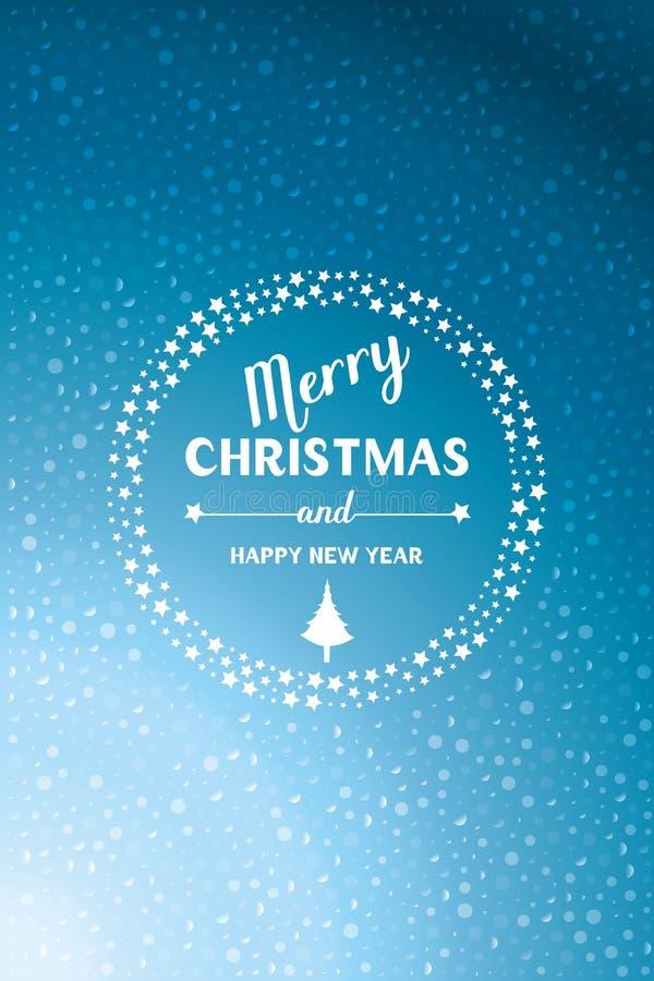 Weihnachten und neues Jahr - übergeben Sie gezogene Buchstaben und herrlich Grafikdesign lizenzfreie abbildung
