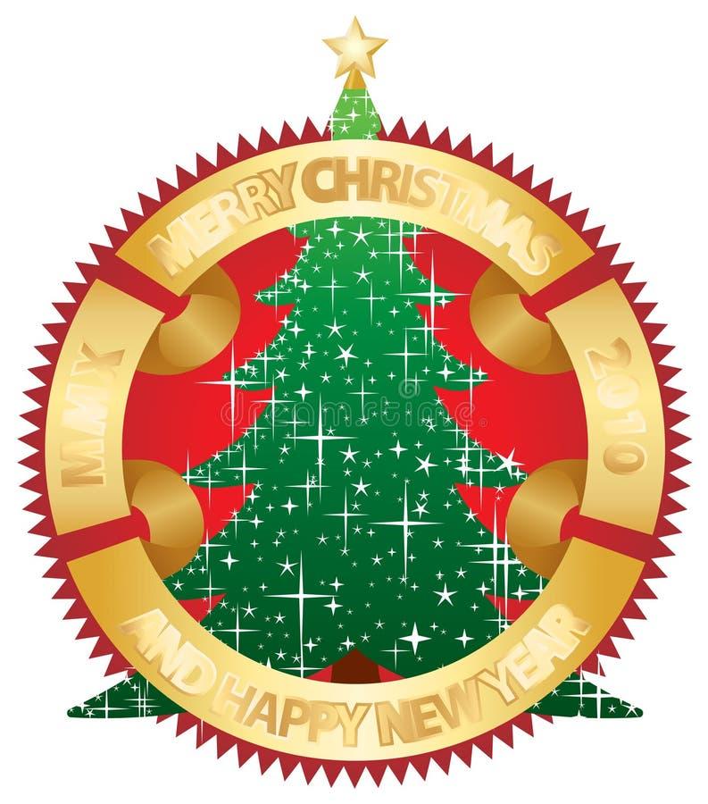 Weihnachten und neues Jahr MMX vektor abbildung
