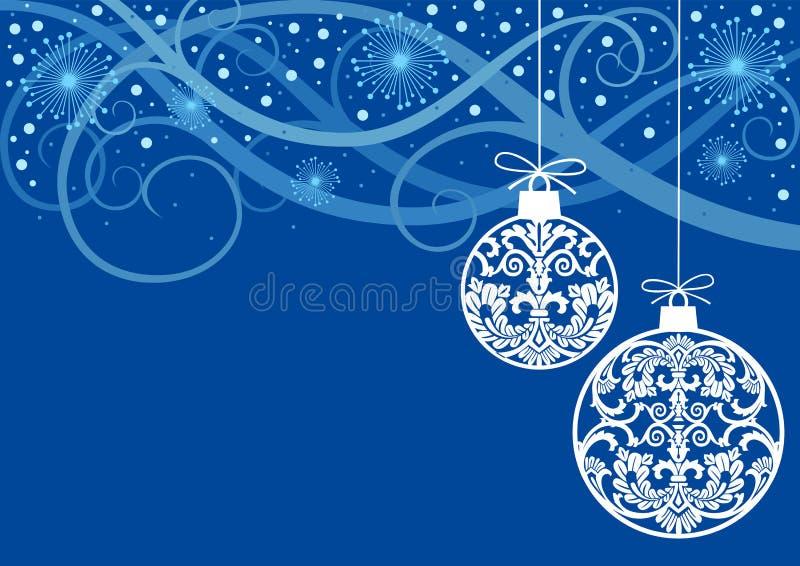 Weihnachten verziert Kugeln vektor abbildung