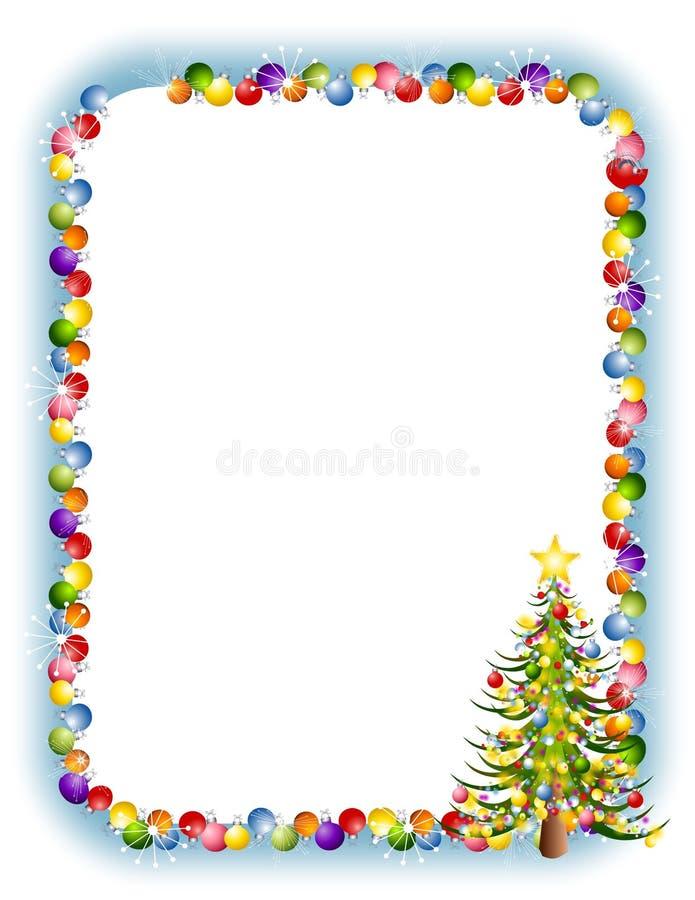 Weihnachten verziert Rand 2 lizenzfreie abbildung