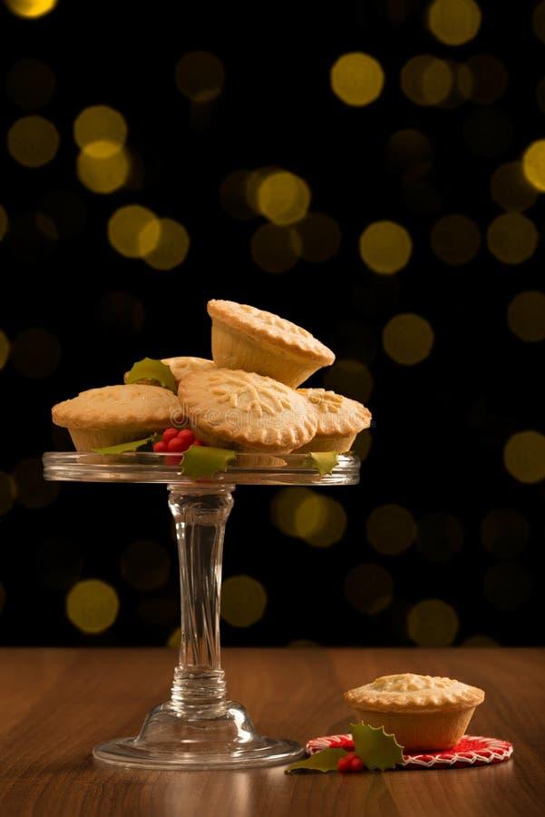 Weihnachten zerkleinern Torten stockfotografie