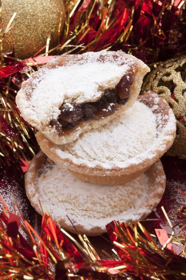 Weihnachten zerkleinern Torten lizenzfreie stockbilder