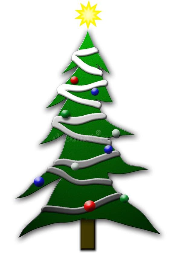 Weihnachtenbaum-c$toonstyle vektor abbildung
