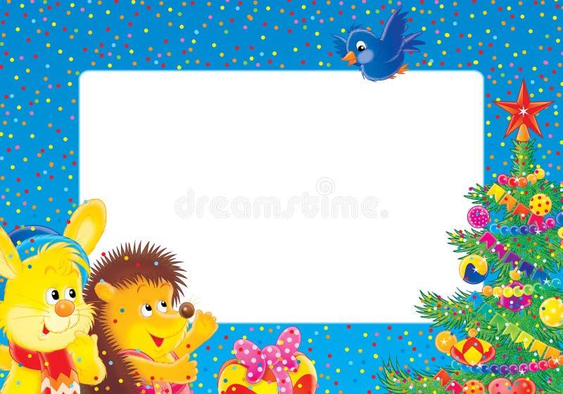 Weihnachtenc$fotofeld stock abbildung