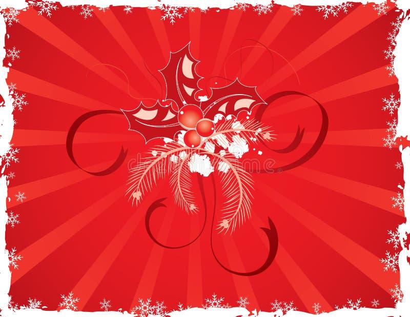 Weihnachtengrunge Hintergrund, Vektor vektor abbildung
