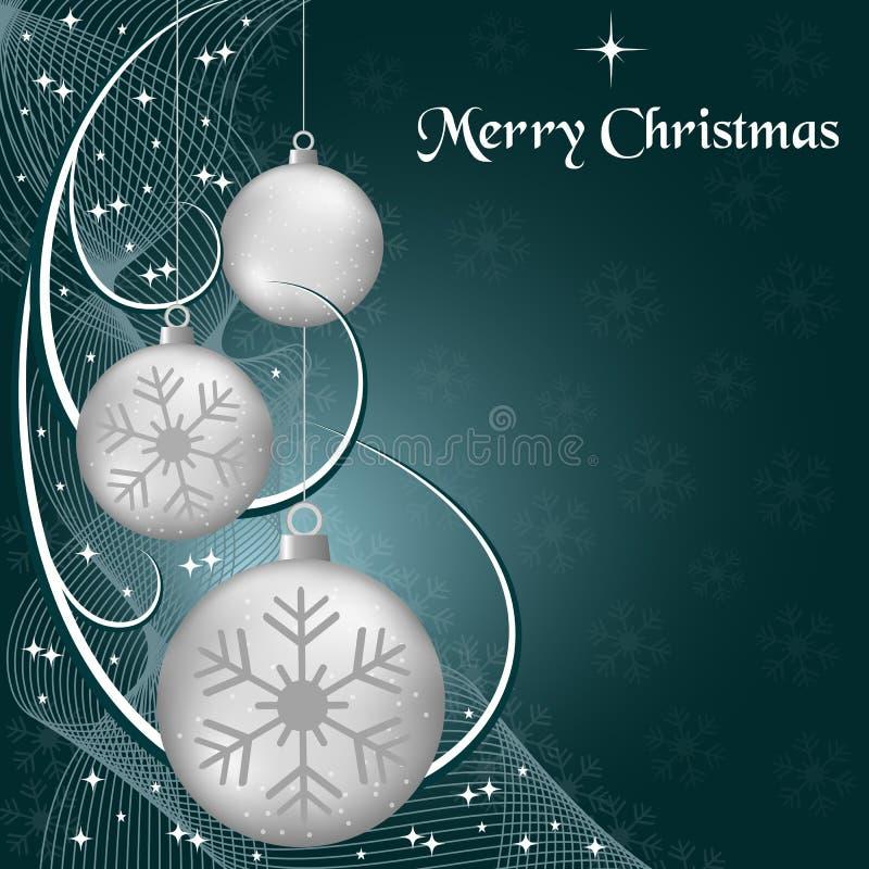 Weihnachtenkugeln und swooshes lizenzfreie abbildung