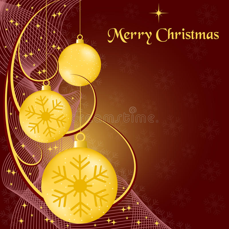 Weihnachtenkugeln und swooshes vektor abbildung