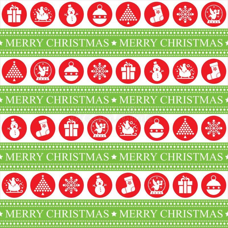 Weihnachtennahtloses patern stock abbildung