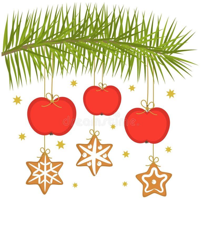 Weihnachtsäpfel lizenzfreie abbildung