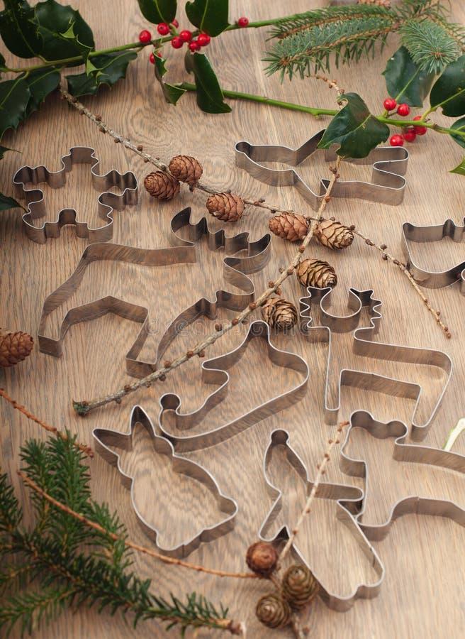 Weihnachts-bachery Formen lizenzfreies stockfoto