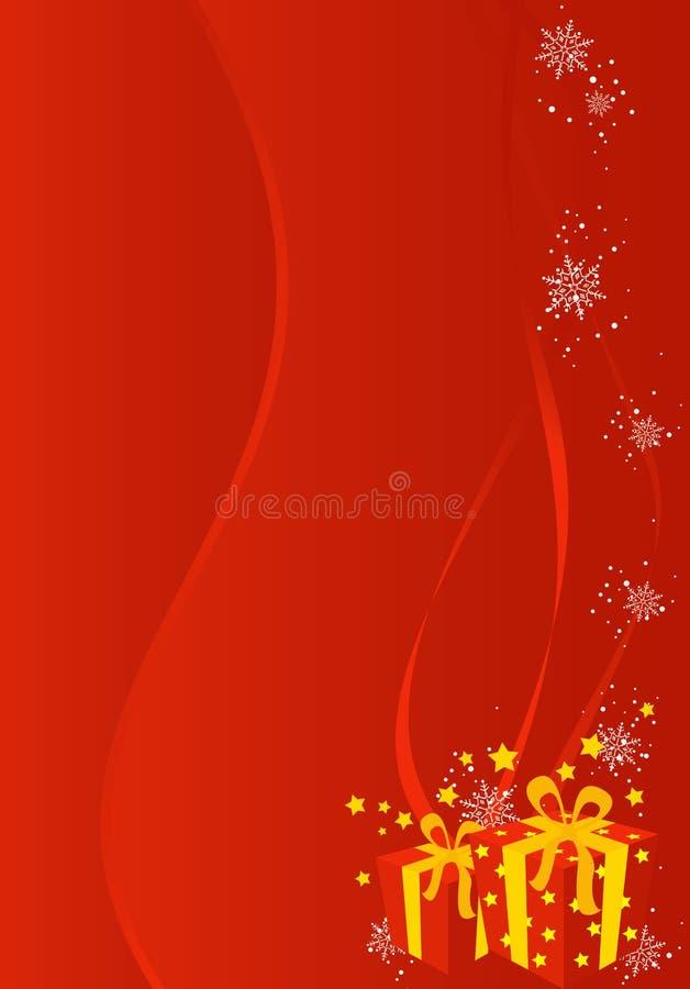 Weihnachts-/des neuen Jahresabbildunghintergrund vektor abbildung
