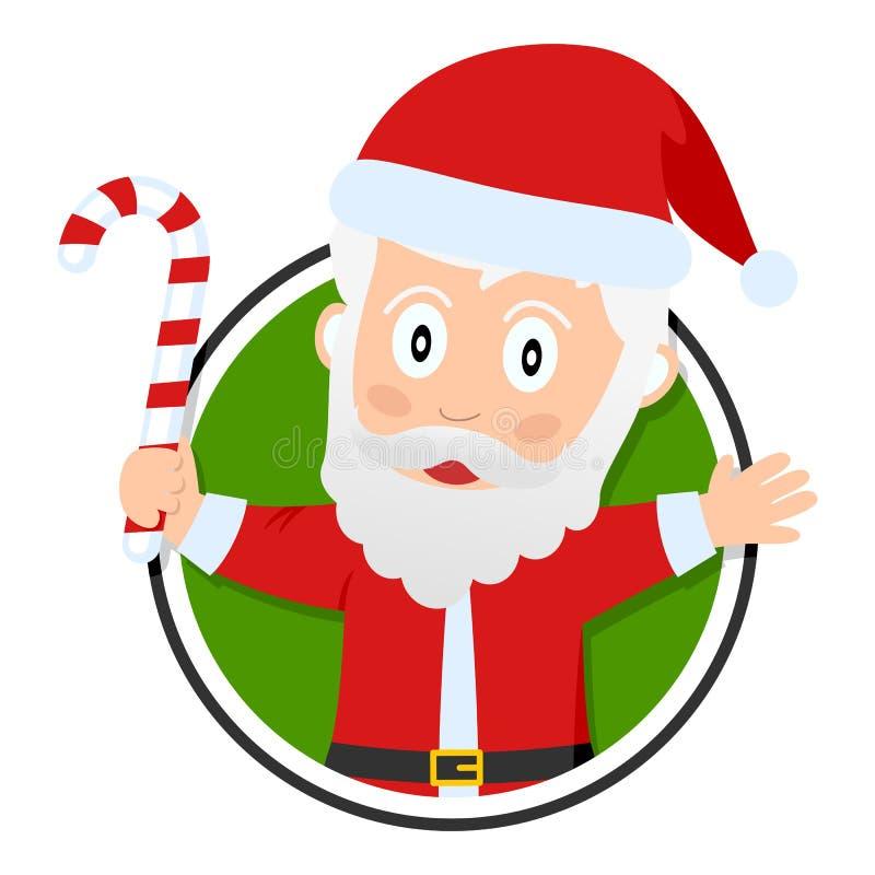 Weihnachts-oder Weihnachtsmann-Zeichen vektor abbildung