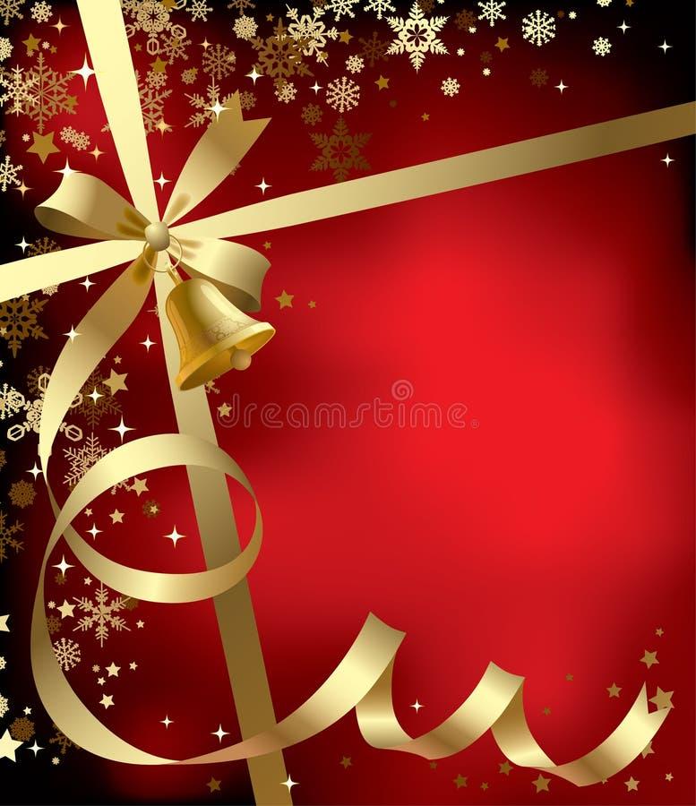 Weihnachts- u. der Neu-Jahregrußhintergrund lizenzfreie abbildung