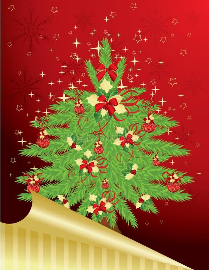 Weihnachts- u. der Neu-Jahregrußkarte stock abbildung