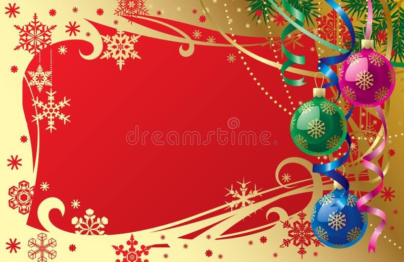 Weihnachts- u. der Neu-Jahrekarte stock abbildung