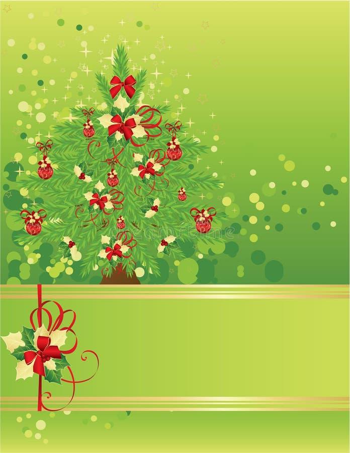 Weihnachts- u. des neuen Jahresgrußkarte vektor abbildung