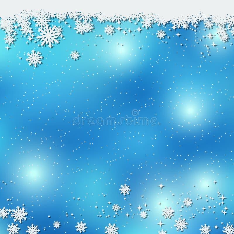 Weihnachts- und des neuen Jahresblauer Vektorhintergrund stock abbildung