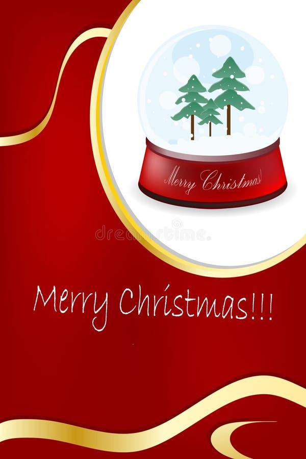 Weihnachts- und des neuen Jahresfeld vektor abbildung