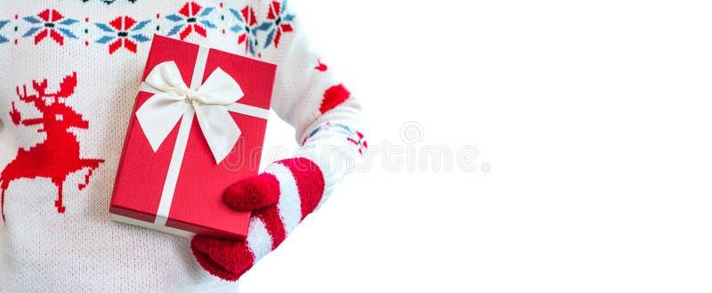 Weihnachts- und des neuen Jahresgeschenk stockfoto