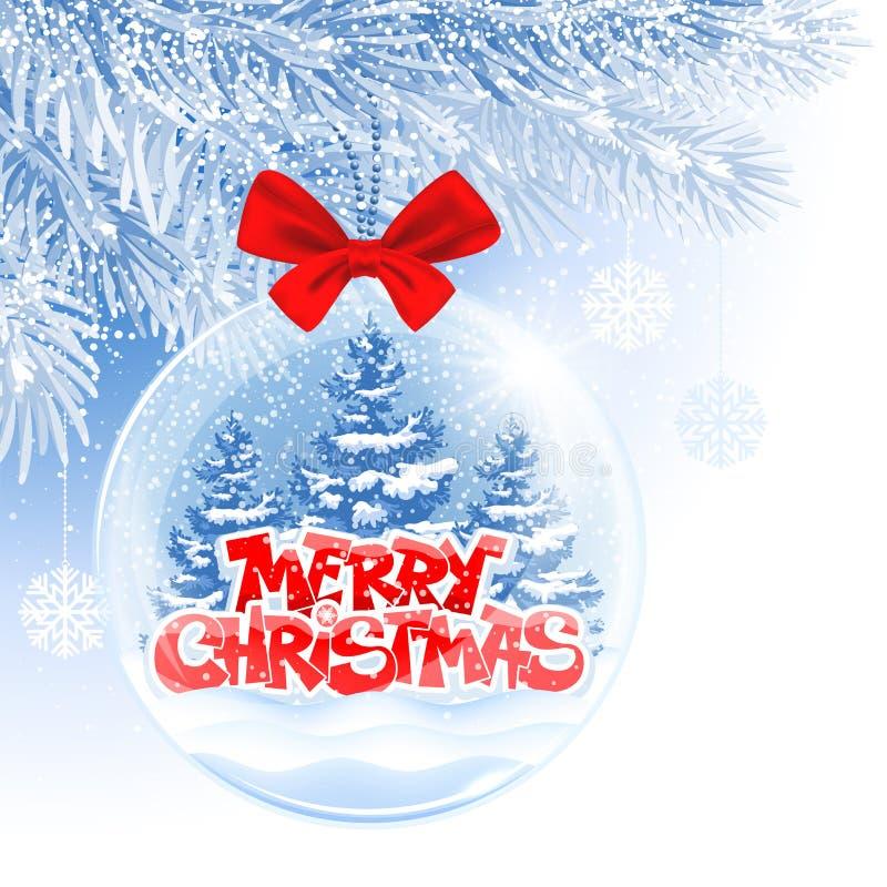 Weihnachts- und des neuen Jahreskugel lizenzfreie abbildung