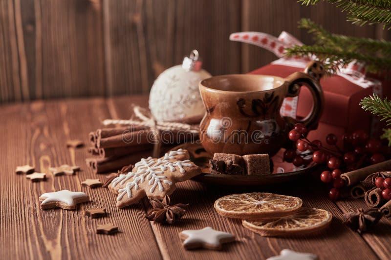 Weihnachts- und des neuen Jahreszusammensetzung stockbild