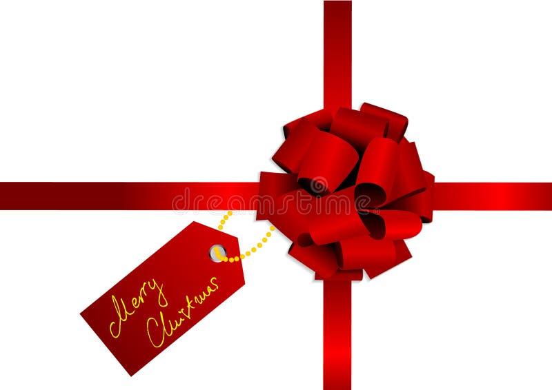 Weihnachtsabbildung eines roten Farbbands lizenzfreie abbildung