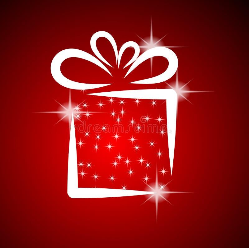 Weihnachtsabbildung mit Geschenkkasten. stock abbildung