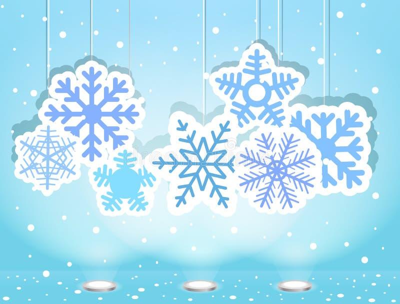 Weihnachtsabbildung mit snoflakes lizenzfreie abbildung