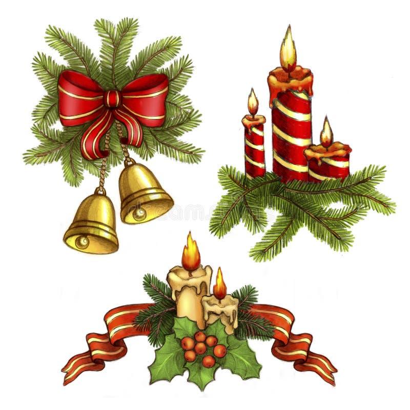 Weihnachtsabbildungen vektor abbildung