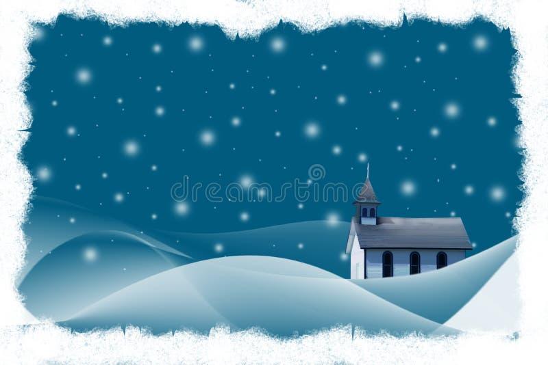 Weihnachtsabend lizenzfreie abbildung