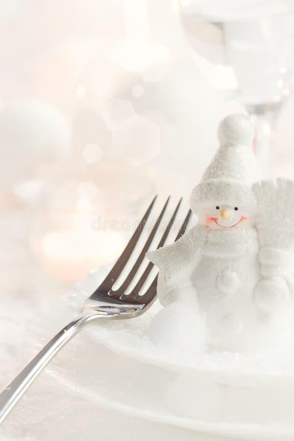 Weihnachtsabendessen stockfoto