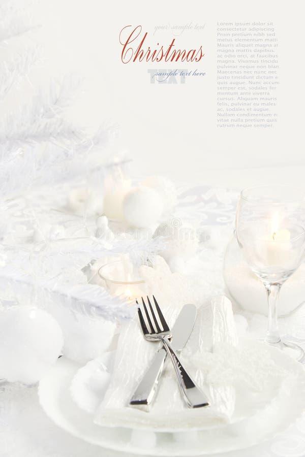 Weihnachtsabendessen lizenzfreie stockfotos