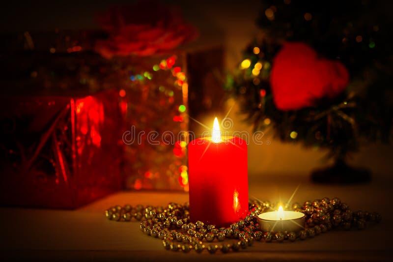 Weihnachtsabendhintergrund stockfotos