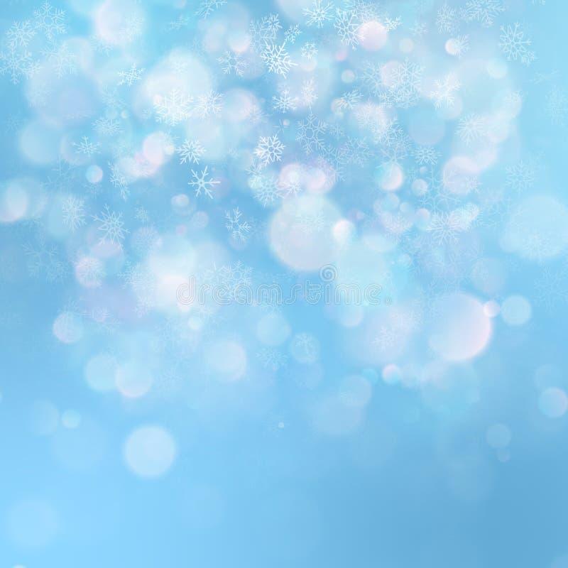 Weihnachtsabstrakte Schablone Heller Hintergrund mit Schneeflocken und Sternen ENV 10 lizenzfreie abbildung
